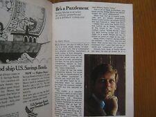 NOV. 1968 TV Guide(ROBERT MORSE/PETER  NOONE/DIANA ROSS/E.J. PEAKER/THAT'S LIFE)