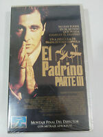 Il Padrino Parte III Nastro VHS Collezzionista Al Pacino Coppola New Nuovo