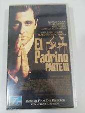 EL PADRINO PARTE III CINTA TAPE VHS COLECCIONISTA AL PACINO COPPOLA NEW NUEVA