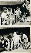 1969 NY YANKEES ORIGINAL TYPE 1 DUGOUT PHOTOS - 2 SPECTACULAR UNPUBLISHED PHOTOS