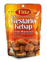 12 x 125g Titiz geschälte Maronen geröstet Essfertig Esskastanien Zarte Maronen