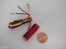 Mini LED Rücklicht Rückleuchte Bremslicht rot E-Nummer universal NEU