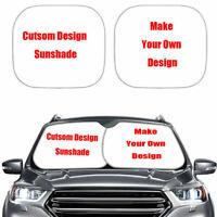 Custom Design Car Sunshades for Windshield Foldable 2 Pieces Set Print On Demand