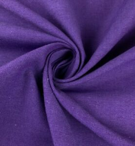 """Purple linen fabric 56"""" Width Sold By The Yard"""