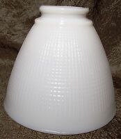 "White Opal Glass 6"" X 2 1/8""f. Floor Table Lamp IES Reflector Waffle Shade Globe"