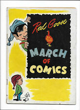 RED GOOSE [1950's VG+] GIVEAWAY!   MARCH OF COMICS #61 INSIDE!