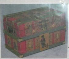 Dollhouse Miniature Trunk kit Cat Design Lithograph Cats Paw 1:12 Scale