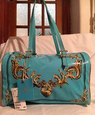 H&M Anna Dello Russo Turchese Blu brevetto bag nuova con etichetta