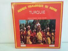 Musique folklorique du monde TURQUIE enregistrement BLAISE CALAME 30CV 1108