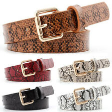 105x2.3CM Women's PU Leather Snakeskin Belt Plastic Waist Personality Gift Belt