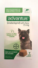 Advantus 7.5mg soft chews Bayer Oral Flea treatment for dogs 4-22lbs