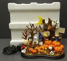 "Danbury Mint Peanuts Halloween ""WELCOME GREAT PUMPKIN"" Light Up Snoopy RARE"