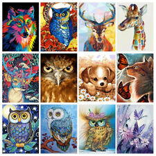 DIY Paint By Number Kit Acrylic Oil Painting Home Art Wall Decor Cat Dog Animals