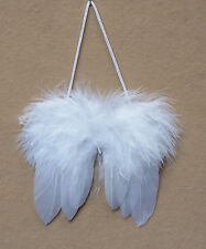 """12 pairs of miniature feather angel wings, white, 3"""""""