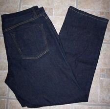 Theory jeans 34 dark blue wash mid-rise stretch USA straight leg 5 pocket zipper