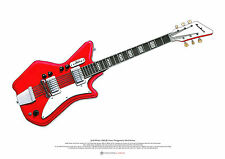 Jack White's Airline JB Hutto guitar ART POSTER A2 size