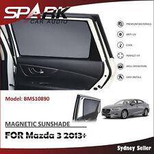 A MAGNETIC CAR WINDOW SUN SHADE SUNSHADES BLIND MESH REAR DOOR FOR MAZDA 3 2013+