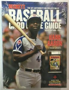2021 Beckett Baseball Card Annual Price Guide 43rd Edition HANK AARON C03021627