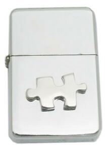 Jigsaw Piece Petrol Lighter Windproof with Free Engraving Gift 456