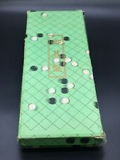 VTG 1960S JAPANESE GO SET YELLOW FOLDING BOARD GAME WITH BLACK AND WHITE STONES