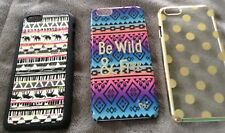 Justice Cell iPhone 6 Case Lot Elephants Polka Dots Be Wild & Free Cute EUC