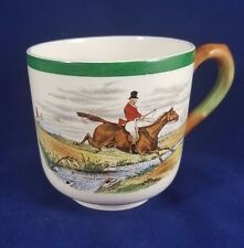 """Spode Herring Hunt The Hunt (Green Scalloped) - Cup 2 3/4"""""""