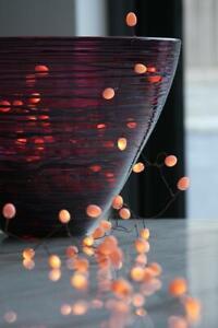 Teardrops - Peach - 90 LED Indoor Light Chain - Mains Powered