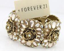 B302 Forever 21 Pearl Flower Brides Wedding Wedding Accessories Bracelet  US