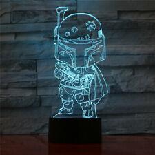 Boba Fett Star Wars Acrylic 3D LED Night Light Touch Table Desk Lamp Xmas Gift