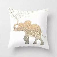 Gold Elephant Cushion Cover Turquoise Pillow Throw Case