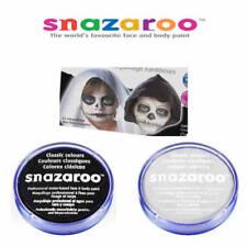 Black & White SNAZAROO Make up Face Body Paint Halloween 18ml Skeleton Ghost