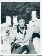 1981 Actor Mike Connors Chased by Ku Klux Klan Today's FBI TV Show Press Photo