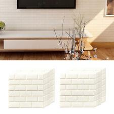 20Pcs Adesivi 3D da parete in mattoni Pannelli autoadesivi Decorazioni per la