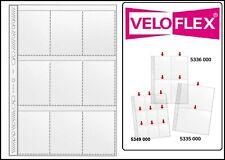 25 X Veloflex A4 Feuilles de Collecte Carte Manches 140my 9x A8 97x67mm Trading