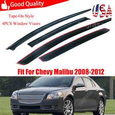 Rain Guard Vent Sun Shade Window Visors Deflector For 2008 2012 Chevrolet Malibu Fits 2012 Malibu