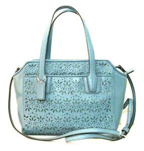 Coach Taylor Eyelet Leather Mini Tote Crossbody Handbag #F28081
