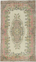 "Vintage Hand-Knotted Carpet 5'11"" x 10'1"" Traditional Oriental Wool Area Rug"