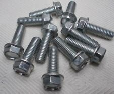 M10 10mm X 1.50 Coarse X 30mm Thread Hex Flange Head Bolt Lot Of 12 Bolts