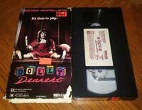 DOLLY DEAREST Horror VHS Vidmark Slasher Cult Maria Lease Rip Torn Denise Crosby