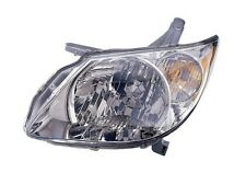 2005 - 2008 PONTIAC VIBE HEADLIGHT HEADLAMP (CHROME HOUSING) LEFT DRIVER SIDE