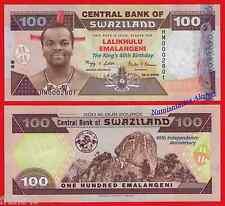SWAZILAND 100 Emalangeni 2008 Commemorative  Pick 34  SC / UNC .