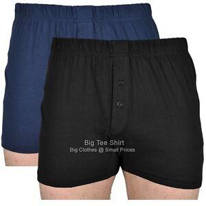 Black/Navy Cotton Valley Twin Pack Boxer Shorts 2XL 3XL 4XL 5XL 6XL 7XL 8XL