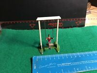 Vintage Britains Lead Garden. Young Boy On A Swing. 1/32 Scale.