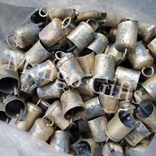 Vintage Antique Metal Cow Bells Handmade Decorative Craft Bells 2.25 H Lot 36 Pc