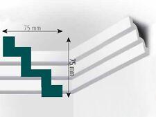XPS Stuck Deckenleiste, 2000x75x75mm, Fachhandelsqualität, Mod. M10