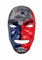 "NFL ""Fan Face"" Mask, New England Patriots, NEW DESIGN"