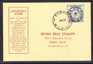 Australia  AAT 1954 Antarctic Stamp Card Seven Seas