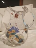 Antique Hand Painted Glass Vase