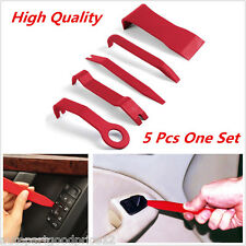 5pcs Red Nylon Car Interior Trim Door Panel Dash Molding Removal Pry Open Tools