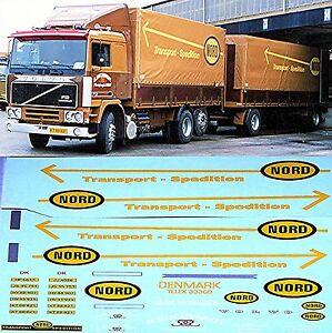 Volvo F12 Nord Transport Spedition Denmark 1:24 Decal Abziehbild
